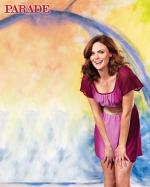 Emily Deschanel Thinks Pink in Parade Magazine