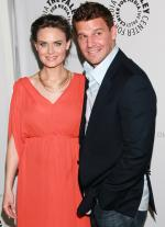 David Boreanaz and Emily Deschanel at event of Bones