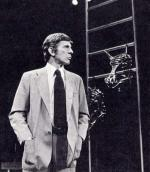 "On Broadway acting in ""Equus"" in 1977."